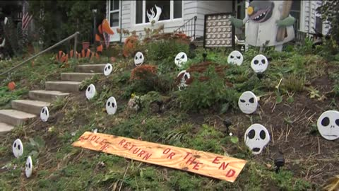 "Halloween decorations stolen from popular Bay View ""Nightmare Before Christmas"" display"