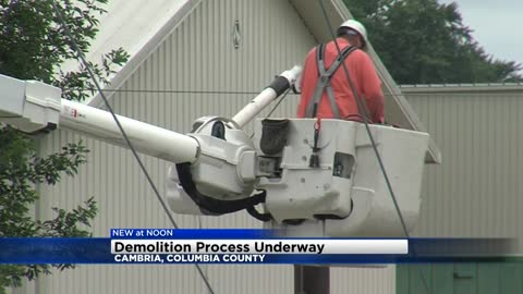 Demolition process now underway of Cambria mill