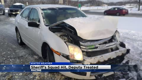 Racine County squad vehicles struck 3 times in past month
