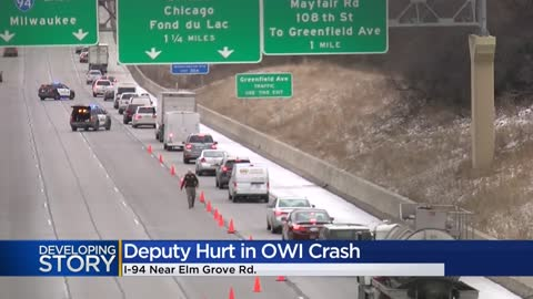Crash involving sheriff's squad closes lanes on I-94 eastbound...