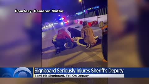 23-year-old deputy injured after semi strikes downed signboard near I-41 @ Drexel