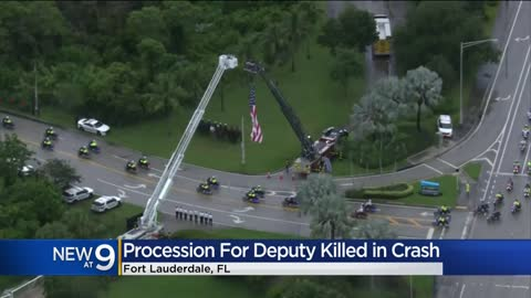 Procession held for Waukesha native and Florida Sheriff's deputy killed in crash