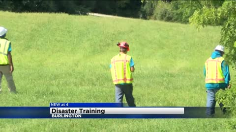 AmeriCorps volunteers hold mock plane crash training exercise