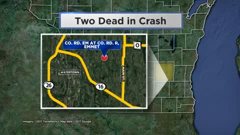 Two killed in Dodge County wrong-way crash