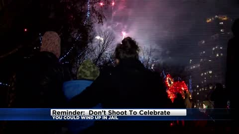 Reminder: Don't shoot to celebrate or you could wind up in jail