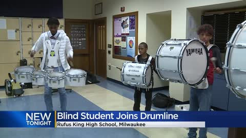 Rufus King HS student who has been blind since birth competes...