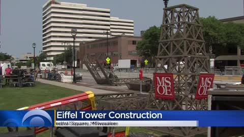 Eiffel Tower replica comes to life for Bastille Days