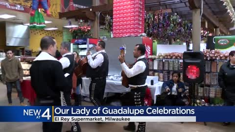 El Rey grocery store celebrates Our Lady of Guadalupe, Mexico's...