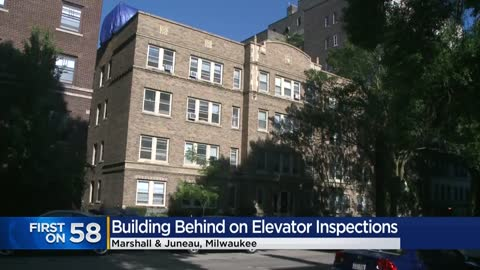 Milwaukee apartment building not up-to-date with inspections prior to elevator fire