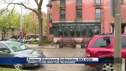 Former employee embezzles $92K from County Clare Irish Inn & Pub