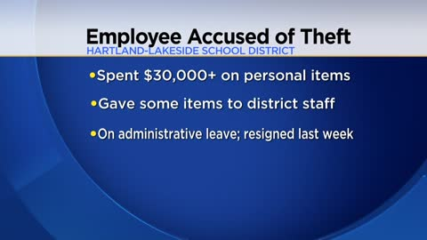 Part-time school employee in Hartland accused of spending $30,000 in district funds on personal items