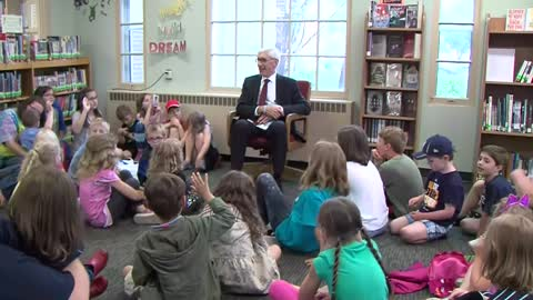 Governor Evers answers kids' questions in Burlington