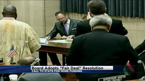 Board adopts 'Fair Deal' resolution, calls to state for more funding