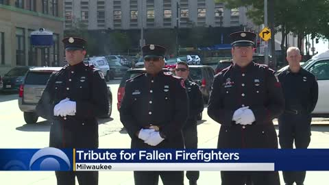 Memorial ceremony honors Milwaukee's fallen firefighters