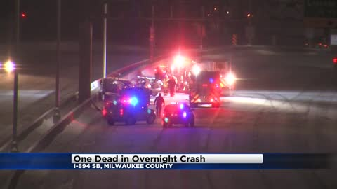 UPDATE: One dead following early morning crash along I-894 southbound