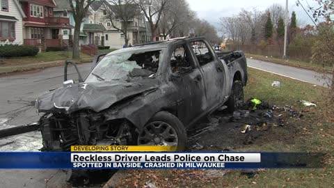 Reckless driver chase goes through three jurisdictions and ends in fiery wreck