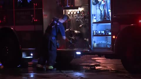 Early morning fire damages three garages on Milwaukee's south side