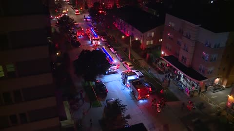 Two injured, several women rescued from windows after fire breaks out in east side apartment