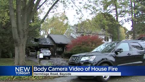Bayside garage fire destroys three cars; residents and dogs safely...