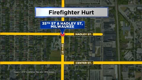 Firefighter hurt while responding to scene near 35th and Hadley