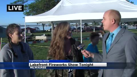 People camping in Milwaukee's Veterans Park ahead of fireworks show