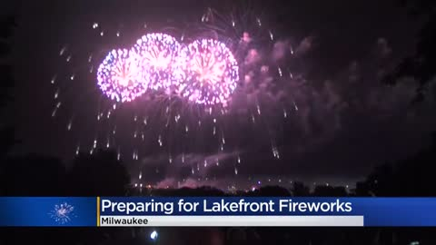Early birds prepare for Milwaukee lakefront fireworks