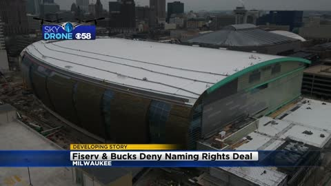 Fiserv, Bucks denying report they are close to naming rights deal for new Bucks arena