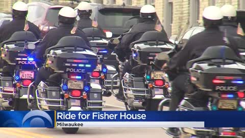 Hundreds of Harley-Davidson bikes hit the road to raise funds, awareness for Fisher House