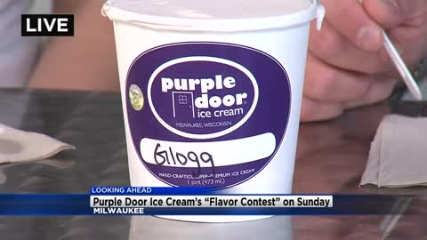 Here's the scoop:  you can vote for the next Purple Door Ice Cream flavor