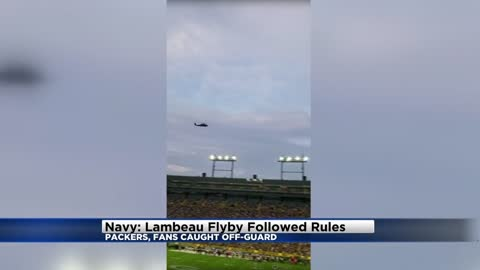 No wrongdoing in unscheduled flyby of Lambeau Field in August