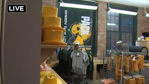 "Looking for some ""infoamation?"" Wisconsin Cheesehead Factory in Walker's Point has it"