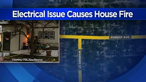 Electrical issue causes Fond du Lac house fire