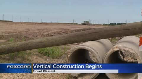 Foxconn begins vertical construction at Mount Pleasant site