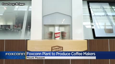 Foxconn will build Briggo Coffee Hauses at its Mount Pleasant site