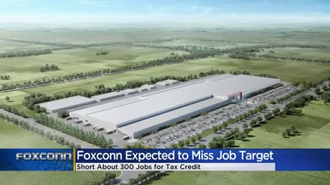Evers says Foxconn likely to miss jobs goal again