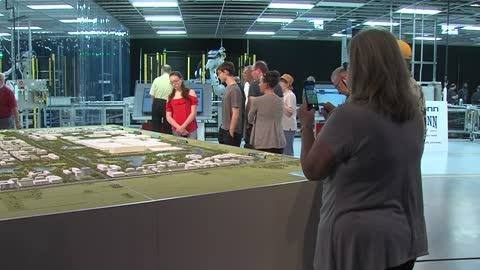 Big crowds tour Foxconn facility at open house