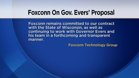 Foxconn says it's committed to Wisconsin job creation