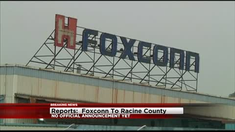 Reports: Foxconn coming to Racine