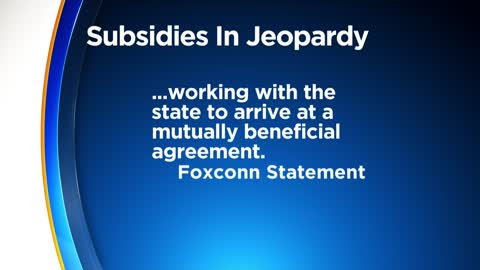 Foxconn tax credits in jeopardy