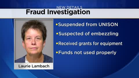Suspended non-profit leader accused of theft by fraud