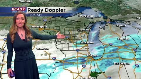 1 PM Update: Lake effect snow showers continue