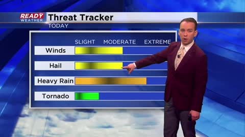 Two more rounds of rain coming Friday with a chance for severe...