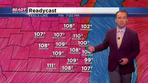 Excessive heat warning issued, feels like temps above 110°