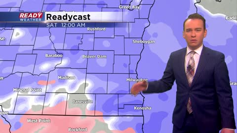 Snow arrives Friday night with low visibility