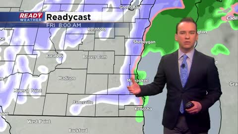Flurries and drizzle until another round of snow Friday night