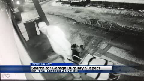 Milwaukee Police searching for suspect who broke into garage on New Year's Day