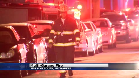 Milwaukee Fire Department investigating garage fires