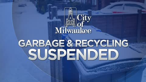 Garbage and recycling suspended Monday in Milwaukee, alternate...
