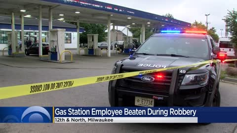 MPD investigating armed robbery at gas station near 12th and North, employee beaten