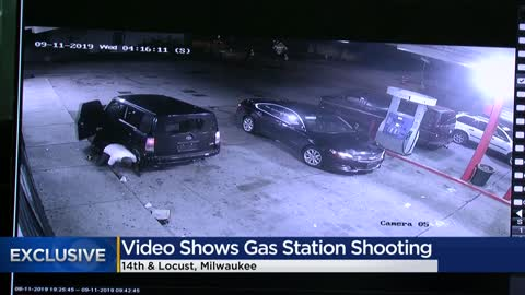 """All the customers laid down:"" Double shooting at Milwaukee gas station caught on camera"